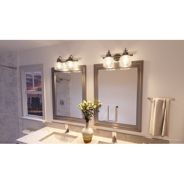 Luxury Industrial Chic Bathroom Vanity Light 8 75 H X 17 W With Modern Farmhouse Style Aged Nickel Finish By Urban Ambiance Overstock 28670687