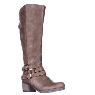 Carlos by Carlos Santana Camdyn Wide Calf Riding Boots - Cognac
