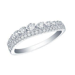 Prism Jewel 0.41Ct Round G-H/SI1 Natural Diamond Twisted Band