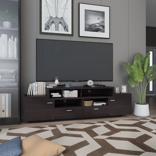 Furniture of America 72-inch Peyson Modern Tiered TV Stand. Opens flyout.