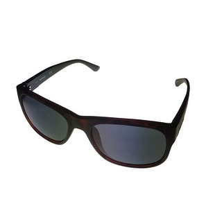Timberland Mens Sunglass Matt Black Brown Wayfarer, Light Smoke Lens TB7135 56A - Medium