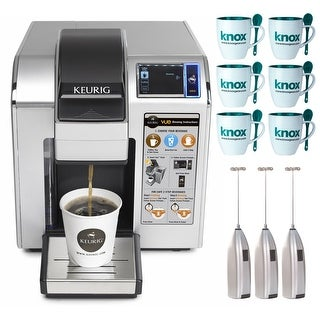 Keurig VUE V1200 Commercial Brewing System Includes Set of 6 Mugs and 3 Frothers