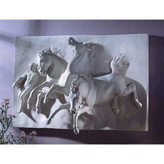 Design Toscano The Horses of Anahita Wall Sculpture: Original