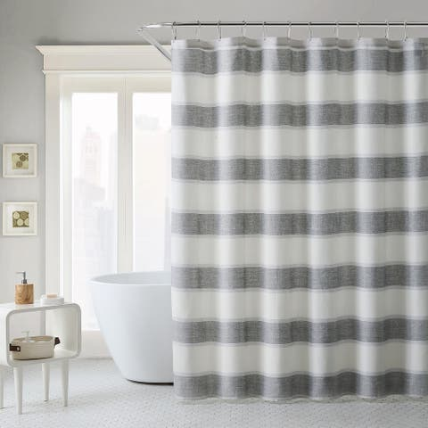 Tommy Bahama Continental Cotton Blue Shower Curtain