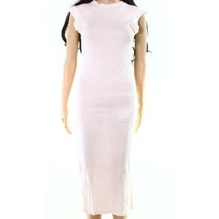 C&C California NEW Pink Womens Size XS Side-Slit Maxi Shirt Dress
