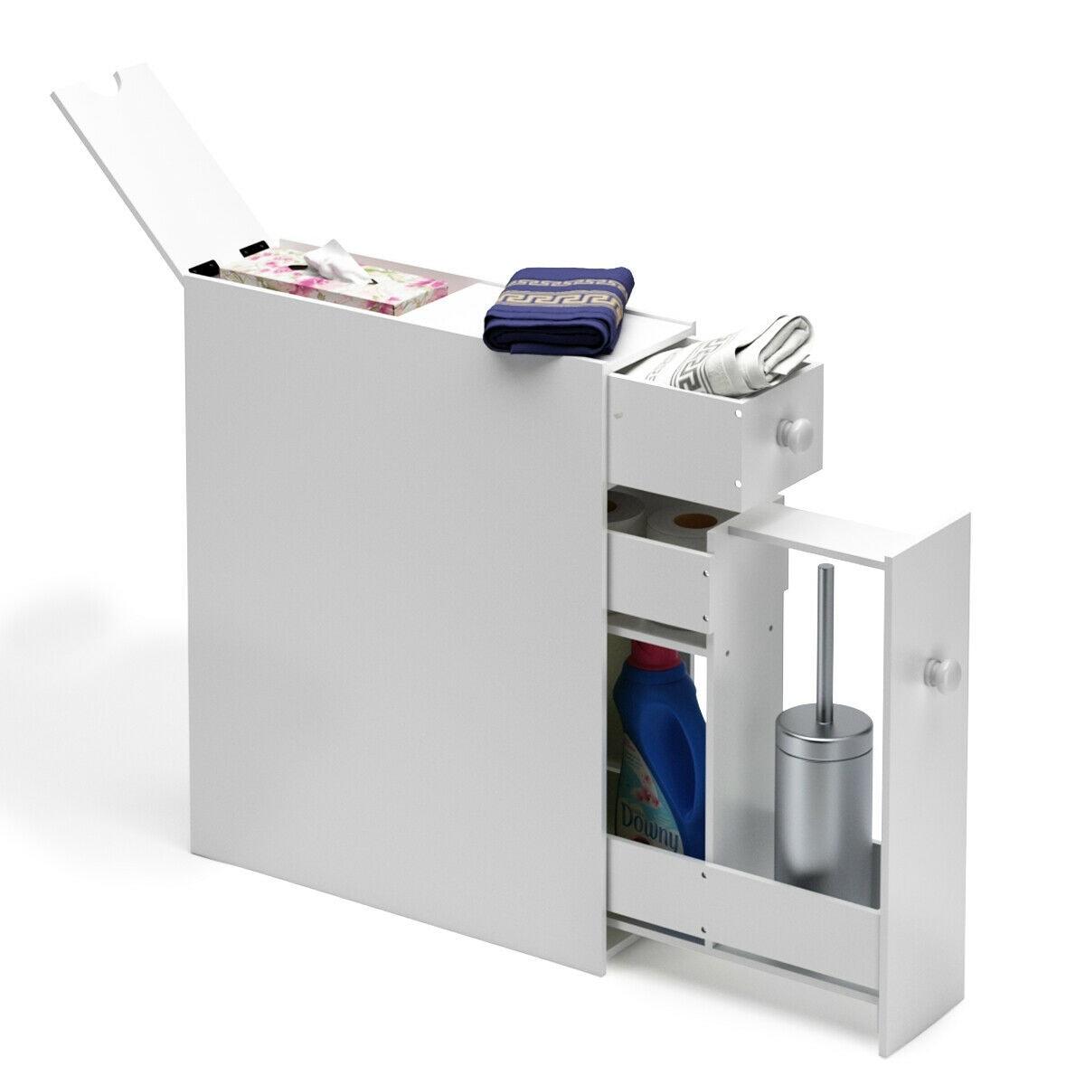 Ordinaire Narrow Wood Floor Bathroom Storage Cabinet Holder Organizer