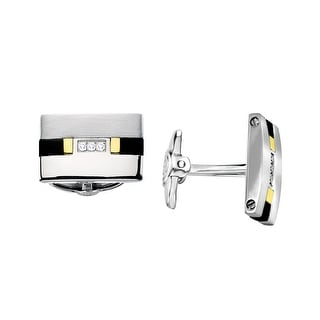 Dolan Bullock Men's Diamond & Onyx Cufflinks in Stainless Steel & 18K Gold