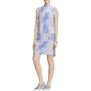 Equipment Womens Michaela  Casual Dress Silk Patchwork - m