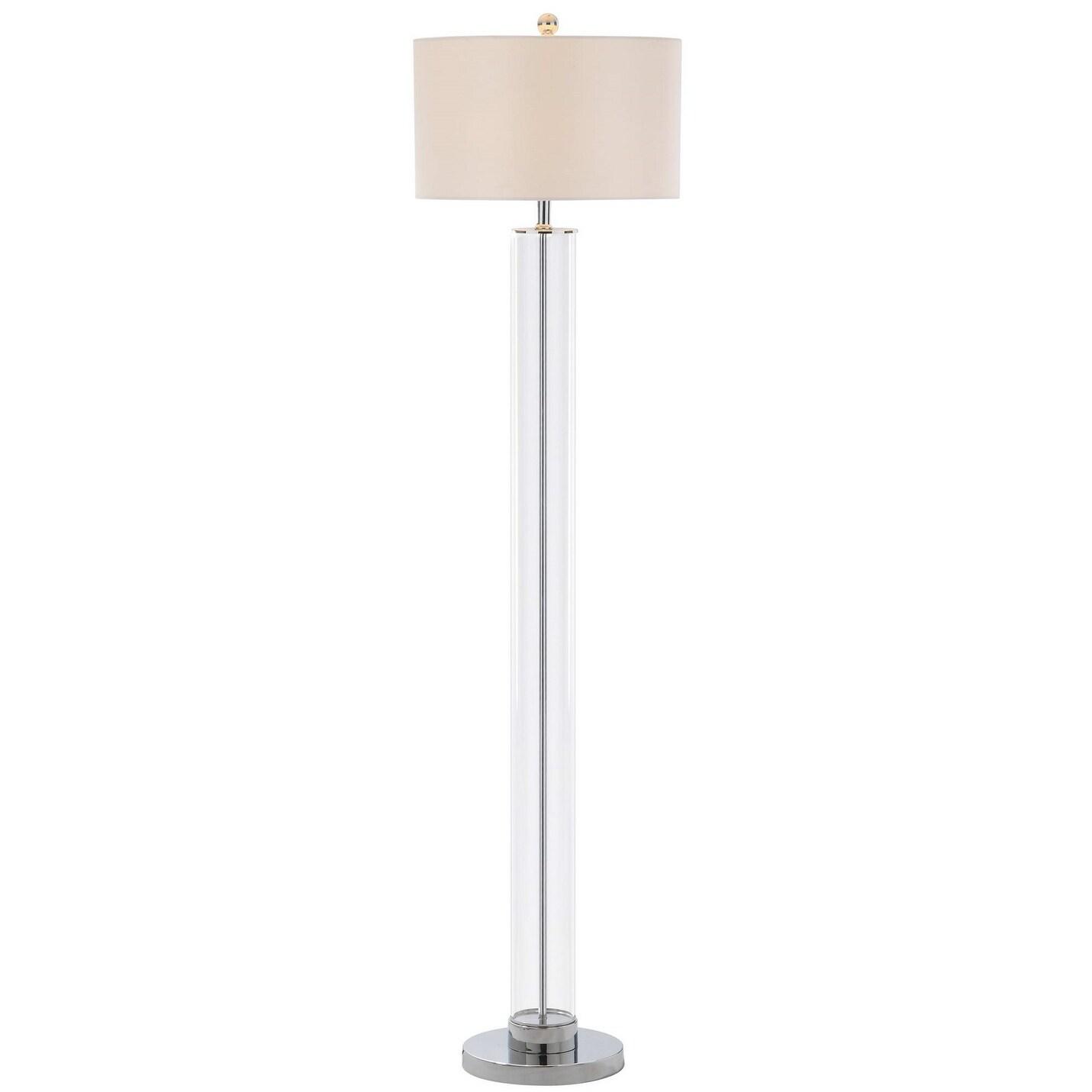 Safavieh Lighting 64 Inch Lovato Chrome Led Floor Lamp 15 X 15 X 64 Overstock 23614776