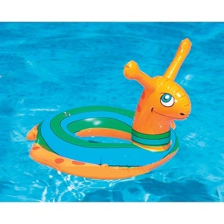 "Inflatable Snail Swim Ring Tube Pool Float for Ages 2 and up 24"" - Orange"