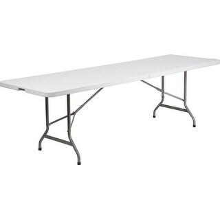 "Rivera 30''W x 96''L Bi-Fold Plastic Folding Table, Granite White, 1.75"" Thick"