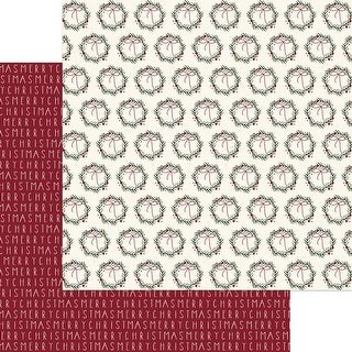 "Merry Berry - Winterberry Double-Sided Cardstock 12""X12"" - 25/Pack"