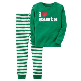 Carter's Baby Boys' 2-Piece Santa Snug Fit Cotton PJs, 24 Months