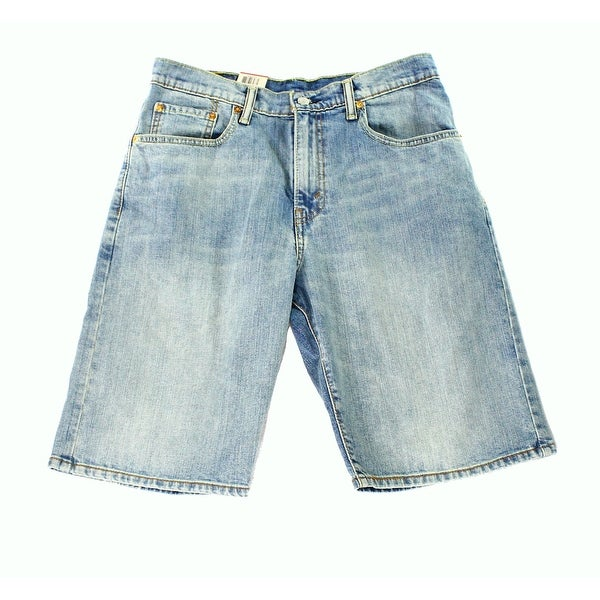 db7070d9ef7 Levi  x27 s 569 NEW Blue Mens Size 30 Stretch Loose Straight Fit Denim