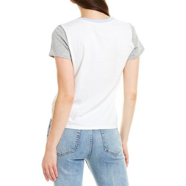 La Vie Rebecca Taylor Floral Logo T Shirt Overstock 29576890