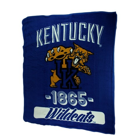 Retro Kentucky Wildcats Plush Micro Raschel Throw Blanket - Blue