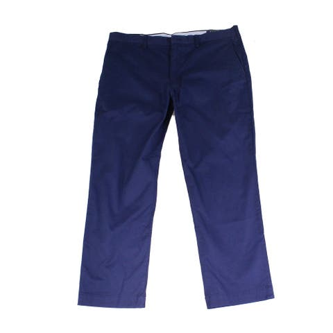 Polo Ralph Lauren Men Pants Blue Size 42x30 Twill Straight Chino Stretch