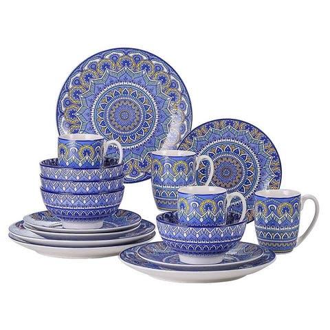 vancasso Mandala Bohemian Porcelain Dinnerware Set (Service for 4)