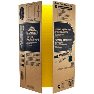"Elmer's Tri-Board Self-Standing Project Display Board 36""X48-Yellow Box=25, Srp $5.99Ea"