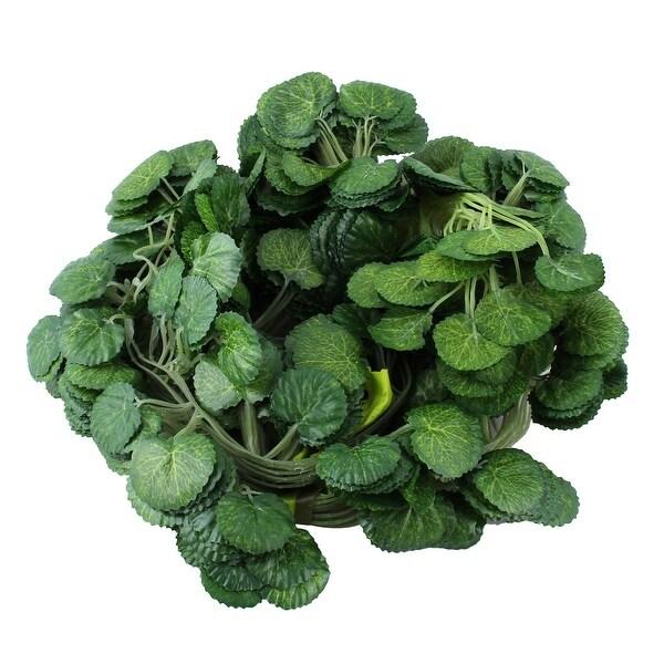 Living Room Plastic Artificial Leaf Wall Decorative Ivy Vine 6.6ft Length 12pcs