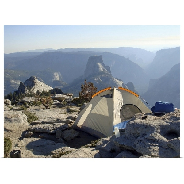 """""""Tent on clouds rest, Yosemite, California"""" Poster Print"""