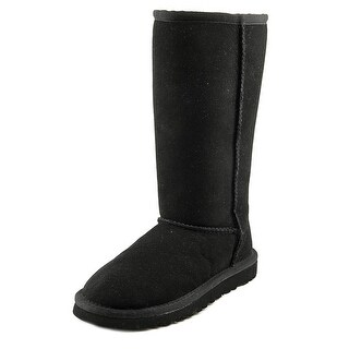 Ugg Australia Classic Short Youth Round Toe Suede Black Winter Boot