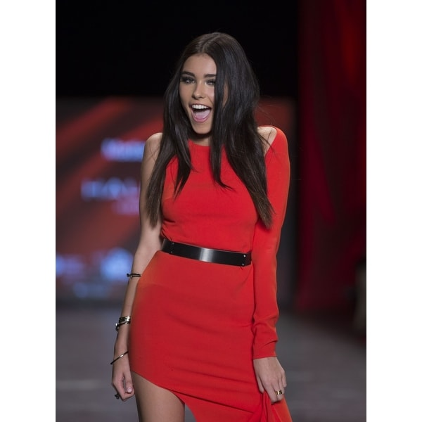 962fca0fb75e3 Madison Beer On The Runway For Go Red For Women Red Dress Collection 2016  Skylight Moynihan Station New York Ny February 11 2016
