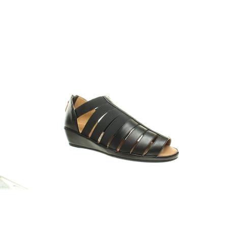 Gentle Souls Womens Lana Black Sandals Size 5.5