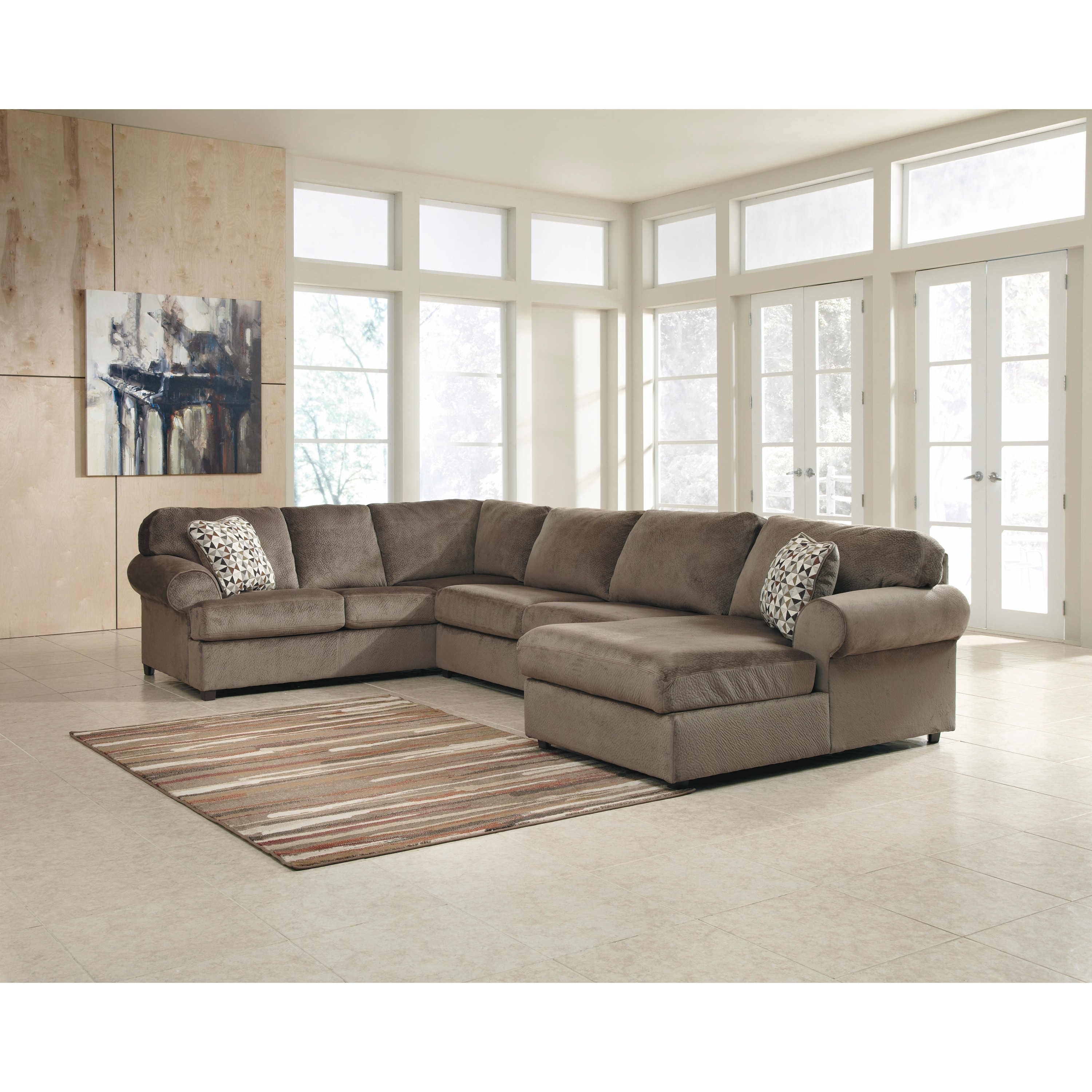 Signature Design By Ashley Jessa Place 3 Piece Left Side Facing Sofa Sectional Overstock 10356142