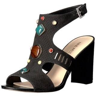 Nine West Women's Chervil Nubuck Dress Sandal