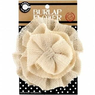 Canvas Corp BURFLWR-3397 Burlap Flower-Ivory