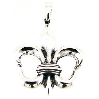 Sterling Silver Fleur De Lis Pendant Charm Royalty