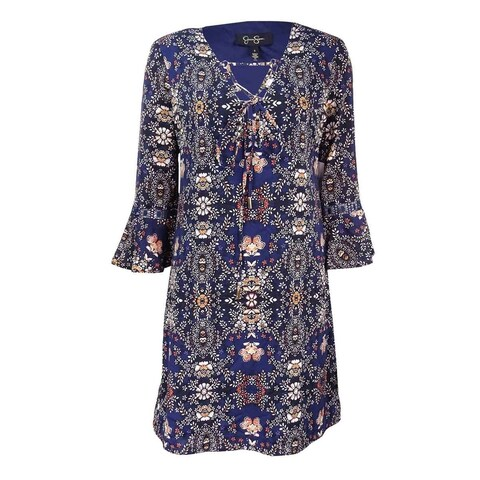 Jessica Simpson Women's Printed Peasant Dress