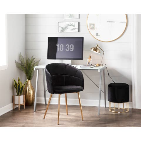 Silver Orchid Ralston Contemporary-Glam Velvet Upholstered Chair - N/A
