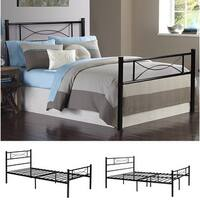 Easy-to-assemble  Bed Frame Platform with Under-bed Storage  Twin
