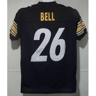 LeVeon Bell Autographed Pittsburgh Steelers black size XL jersey wJSA