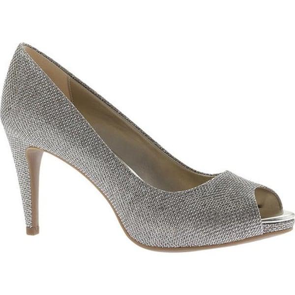 56419c3345b8 Shop Bandolino Women s Rainaa Peep Toe Pump Gold NU Glamour - Free ...