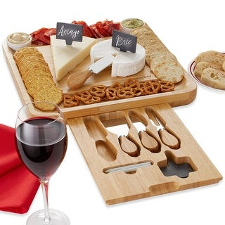Link to Bamboo Cheese Board Gift Set with 2 Bowls & 4 Knives by Casafield Similar Items in Serveware