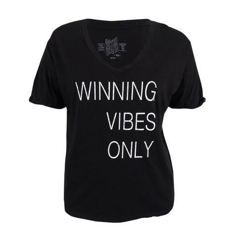 Retro Brand Women's Game Day Graphic T-Shirt (M, Black) - Black - M