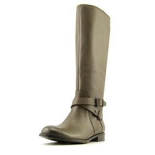 Enzo Angiolini Daniana Women Round Toe Leather Gray Knee High Boot