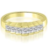 0.75 CT.TW Princess Cut Diamond Wedding Band - White H-I