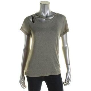 LNA Clothing Womens T-Shirt Slub Cut-Out - s