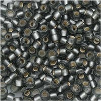 Toho Round Seed Beads 8/0 29BF 'Silver Lined Frosted Gray' 8 Gram Tube