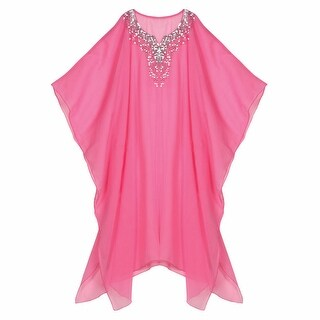 Women's Sheer Resort Cruise Beach and Cruise Cover Up with Sequins One-Size