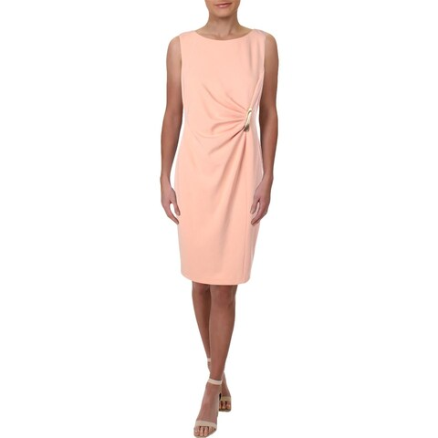 DKNY Womens Wear to Work Dress Ruched Sleeveless