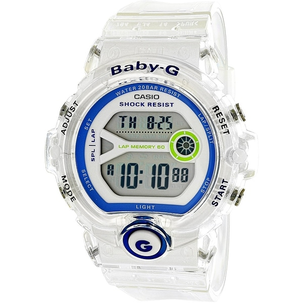 4dcc69cee62f0 Shop Casio Women s Baby G White Rubber Quartz Sport Watch - Free Shipping  Today - Overstock.com - 18618161