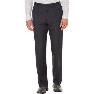 Perry Ellis Mens Dress Pants Check Print Classic Fit