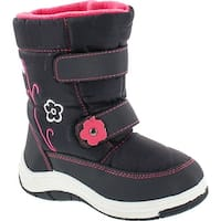 Via Pinky Scarlett-52F Children Girl Comfort Flower Warm Mid Calf Snow Boots