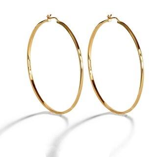 Link to Eternity Large Hoop Earrings in 18K Gold Vermeil (Sterling Silver base), 18K Rose Gold Vermeil or Sterling Silver Similar Items in Earrings