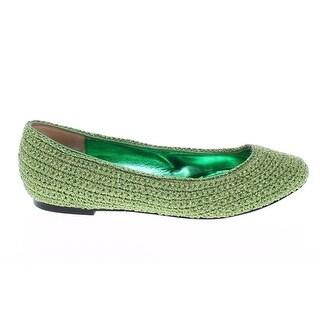 Dolce & Gabbana Green Knitted Ballerinas Ballet Flats Shoes - 39
